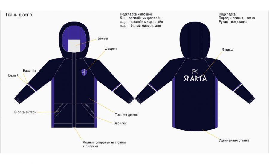 Форма учеников бутбольной школы Спарта